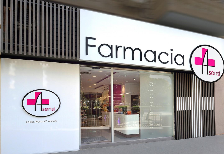 reforma y diseño de fachadas de farmacias