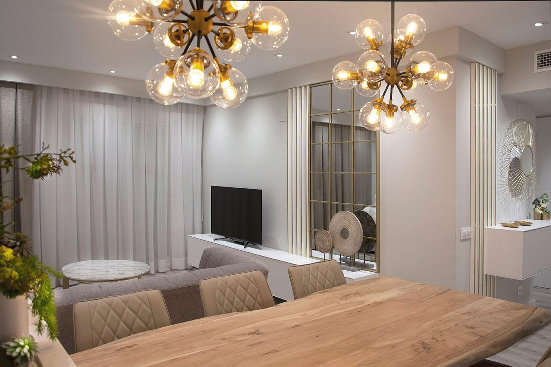 Iluminación apartamento playa