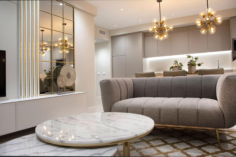 Diseño salón apartamento playa