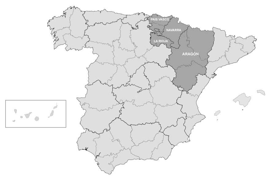Áreas de trabajo principales. Mapa de situación. Decoración Única - Estudio de decoración